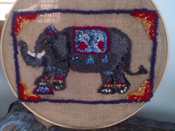 Working on new rug